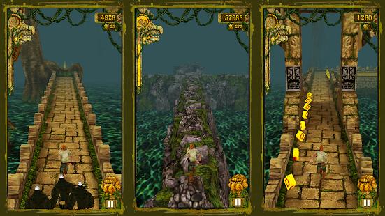 """Temple-Run """"ancho ="""" 551 """"height ="""" 310 """"srcset ="""" https://aplicacionestop.com/wp-content/uploads/2020/03/1585542159_418_Los-20-juegos-de-Android-más-populares-para-jugar-antes-de-morir.png 551w, https : //www.ubuntupit.com/wp-content/uploads/2019/09/Temple-Run-300x169.png 300w """"tamaños ="""" (ancho máximo: 551px) 100vw, 551px """"/> El recorrido del templo es otro más descargado Juego de Android en Play Store, que es igualmente popular para jugadores de cualquier edad. De una manera peligrosa y arriesgada, debes correr y sobrevivir del mono monstruo del templo ya que le has robado el ídolo maldito. Las monedas estarán allí en tu camino, y puedes recogerlos para obtener más puntos. Este emocionante juego incluye las siguientes características: </span> <span id="""