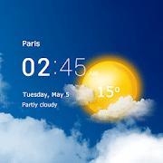 Reloj transparente y clima: pronóstico y radar