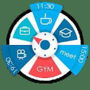 Sectograma. Planificador y administrador de tiempo en widget de reloj