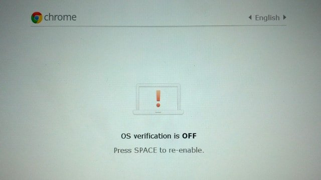 Opción de varificación de Chromebook para encendido y apagado