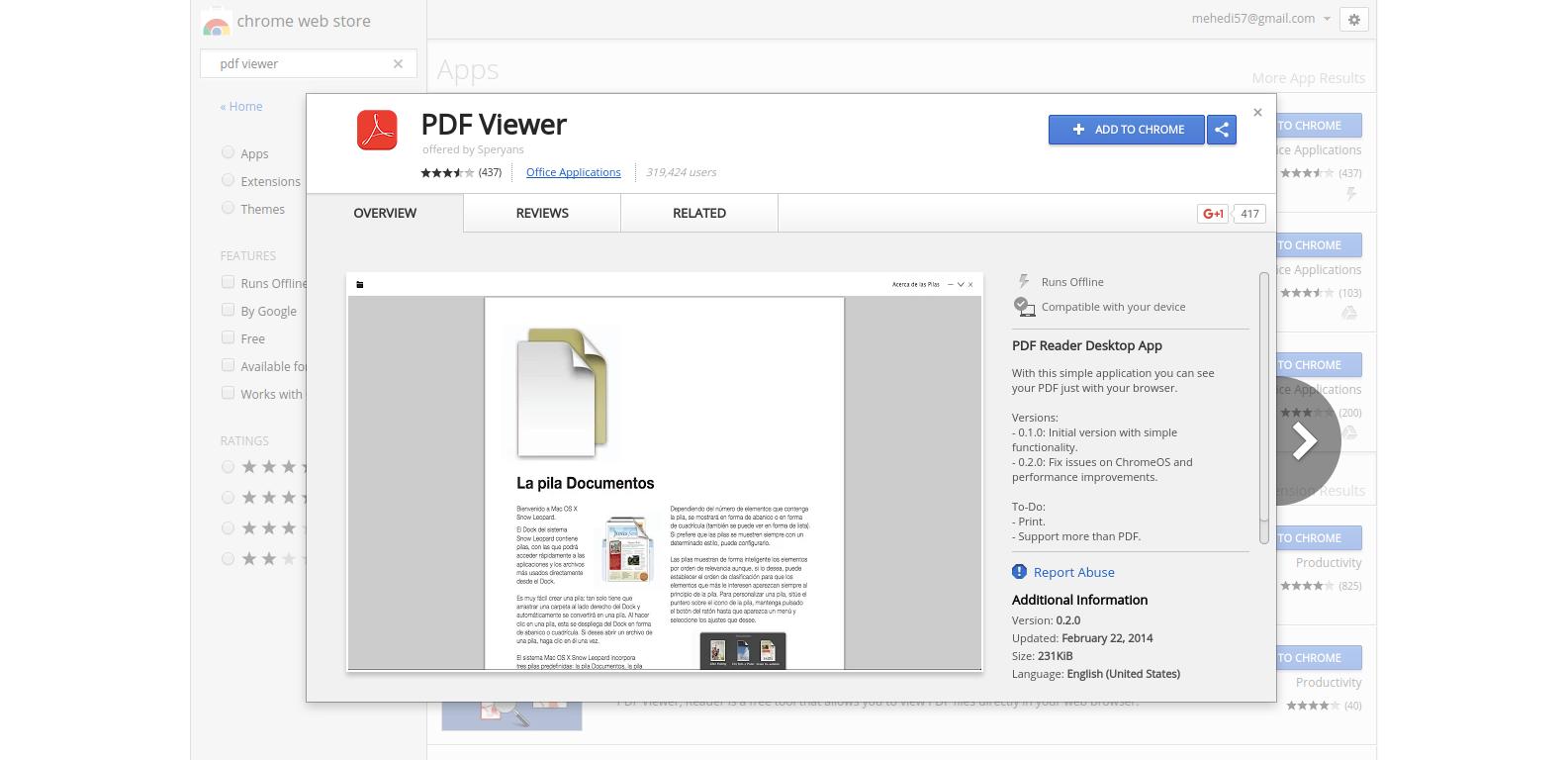 Leer libros sin conexión con el visor de PDF