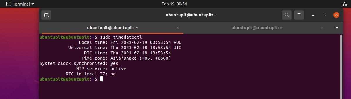 Sincronizar la hora con NTP en Linux ver hora