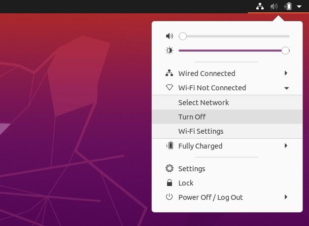 deshabilitar wifi desde barra superior