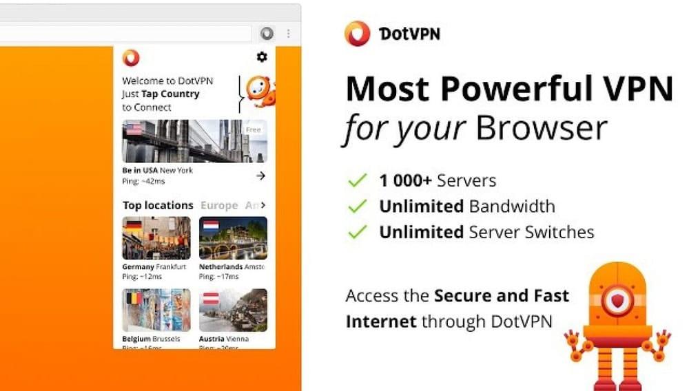 DotVPN - Lo mejor para google chrome