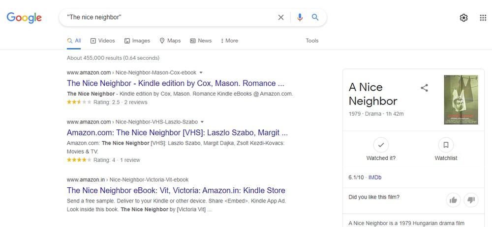 Busque en Google una frase específica