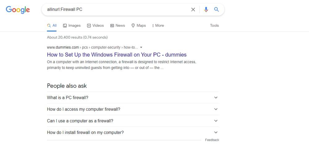 Búsqueda de trucos de Google dentro de una URL
