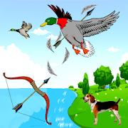Cazador de aves con tiro con arco